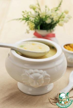 Рецепт Яичный суп с кукурузой
