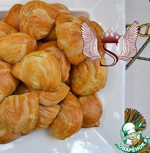 """Рецепт Пирожки """"Мидии"""" с сыром Фета и петрушкой"""