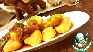 Рецепт Гороховые ньокки с луковым чатни-соусом