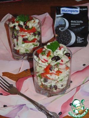 Рецепт Острый овощной салат с фасолью