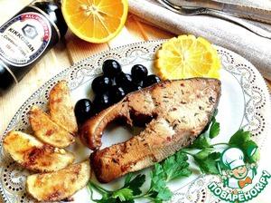 Рецепт Горбуша в соево-медовом маринаде