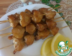 Рецепт Шашлык из куриных хвостиков (гузок)