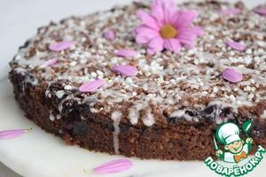 Шоколадно-вишнёвый пирог со штрейзелем вкусный рецепт с фотографиями пошагово