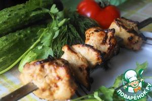 Рецепт Куриный шашлычок в горчично-соевом маринаде