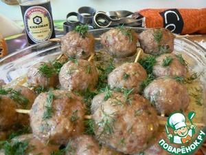 Рецепт Шашлычок в духовке на картофельном кугеле