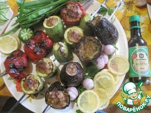 Рецепт Овощи, фаршированные фаршем, на мангале