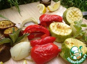 Рецепт Овощной шашлык по-средиземноморски