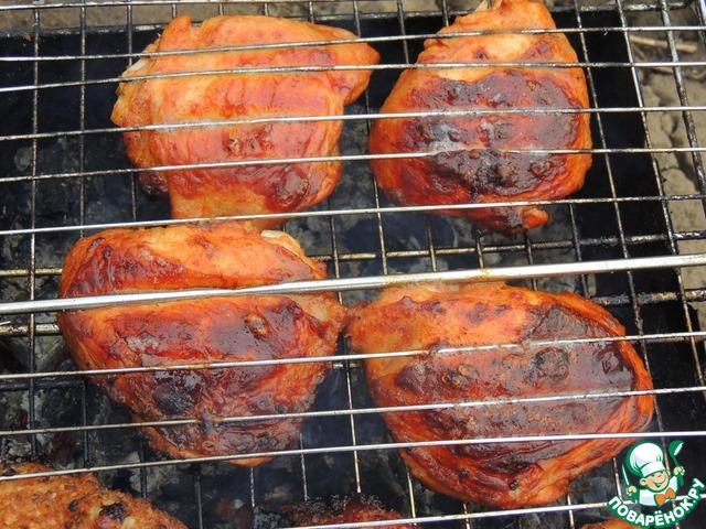 как пожарить куриные бедра в соевом соусе пошаговый рецепт