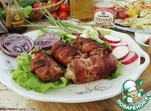 Рецепт Куриное филе с сыром дорблю и беконом
