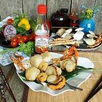 Шашлык из морепродуктов с мёдом