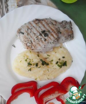 Рецепт Ароматная жареная свинина с лимоном и розмарином