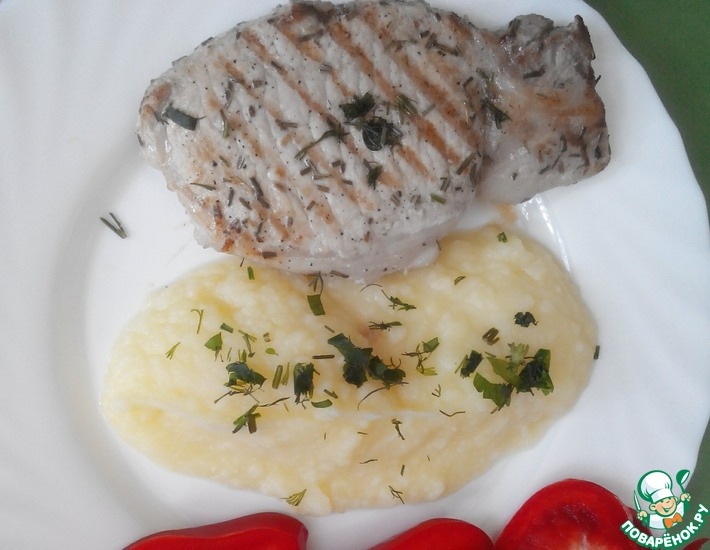 Рецепт: Жареная свинина с лимоном и розмарином