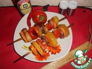 Рецепт Пряный овощной шашлык