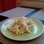 Салат с треской и айсбергом