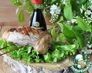 Рецепт Рулет из лосося на шампурах