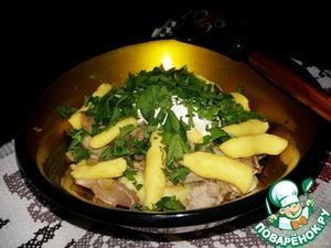 Рецепт Ленивые вареники из картошки с грибами