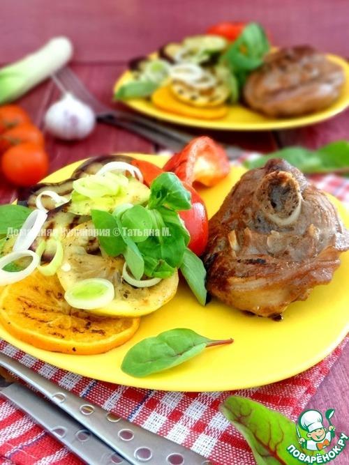 Овощи гриль дома рецепт с фото