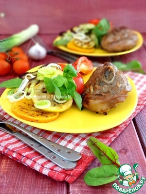 Рецепт Индейка с овощами гриль
