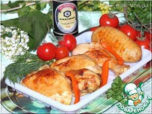 Рецепт Курица гриль, маринованная в пиве