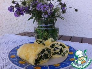 Омлет-рулет со шпинатом и фетой вкусный рецепт приготовления с фотографиями пошагово как приготовить