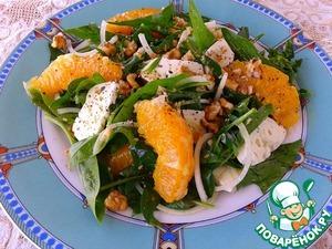 Рецепт Салат со шпинатом и козьим сыром