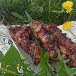 Шашлык в соево-винном маринаде