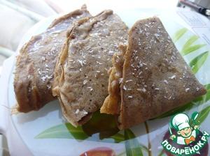 Рецепт Гречневые блинчики с шоколадно-грушевой начинкой