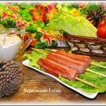 Сосиски-гриль и острый сметанный соус