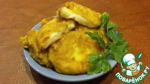 Рецепт Колбасный копченый сыр в кляре