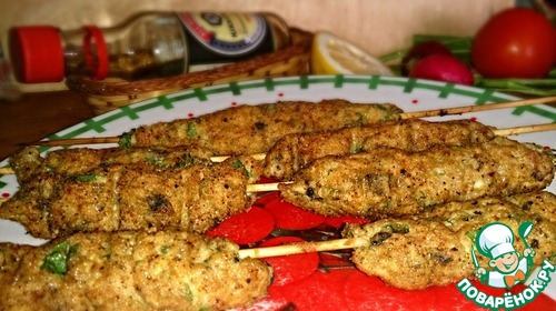 рецепты фарш на шпажках в духовке