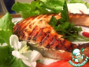 Рецепт Сёмговый стейк на гриль-сковороде
