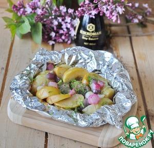 Рецепт Пикантное рагу из лосося в фольге