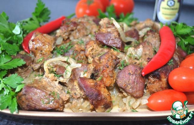 шашлык в духовке из говядины рецепт с фото