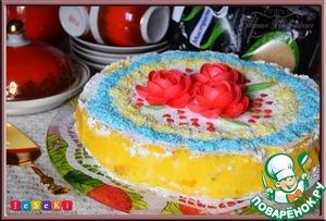 Рецепт Бисквитный австрийский сырный торт