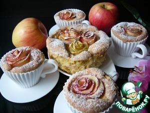 Рецепт Шарлотка с яблочными розами