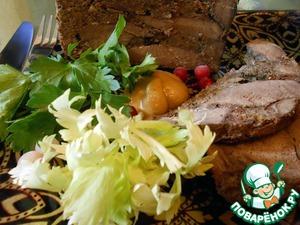 Рецепт Ветчина из телячьего сердца с цитрусовыми нотками