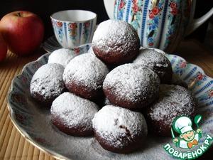 Рецепт Пончики творожные с яблоком