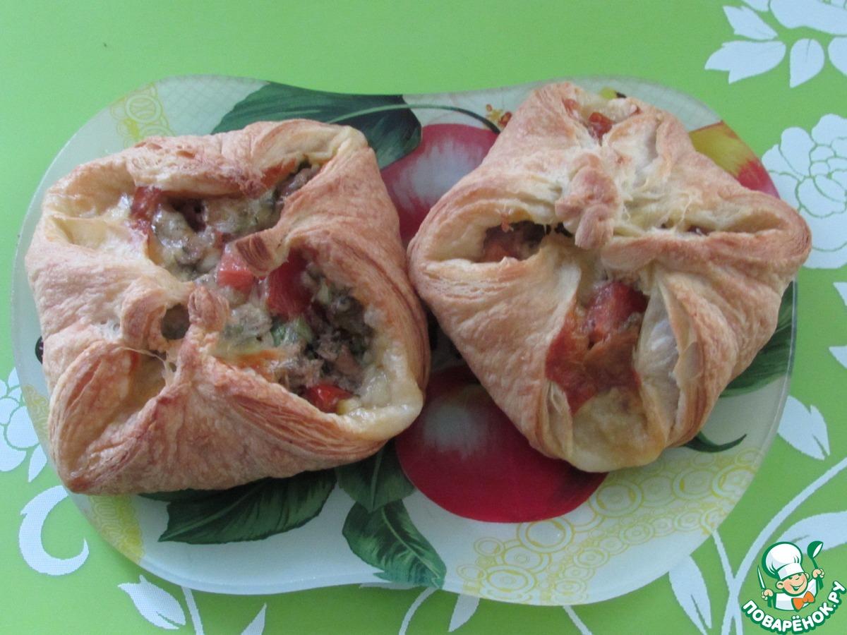 Хачапури с сыром рецепт из слоеного теста 28