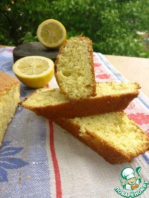 Рецепт Лимонный кекс с апельсиновыми цукатами