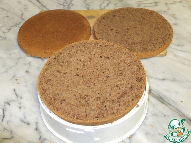 """Бисквит """"Пражский рассвет"""" домашний пошаговый рецепт приготовления с фотографиями как готовить #10"""