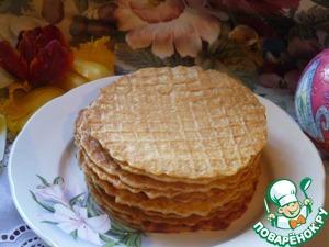 Рецепт Овсяно-пшеничные тонкие вафли