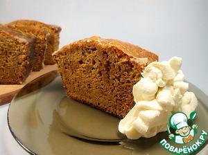 Рецепт Карамельный бисквит в глазури