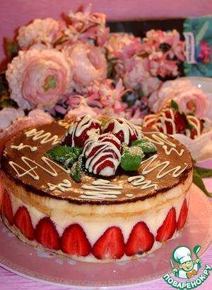 "Рецепт Бисквитный торт ""Фрезье"""