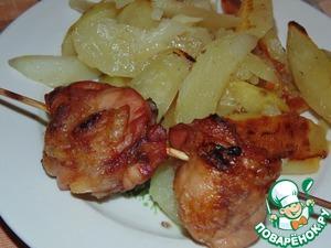 Рецепт Шашлык из окорочков с картошкой