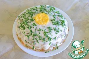 Рецепт Печеночный торт из свиной печени