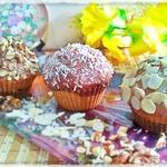 """Кексы """"Инь-Ян"""" с шоколадной глазурью"""