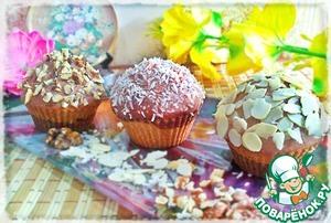 """Рецепт Кексы """"ИньЯнь"""" с шоколадной глазурью"""