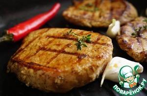Рецепт Стейки из свинины для спонтанного пикника