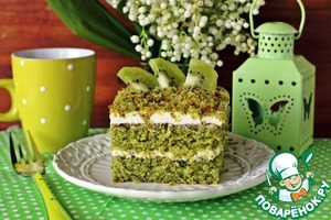 Рецепт Изумрудный бисквит для тортов и десертов