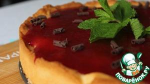 Рецепт Французский тарт с клубничным пюре